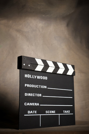 directors cut: A movie production clapstick board.