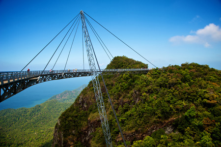 langkawi island: The bridge is a viewing platform. View point. Langkawi island. Stock Photo