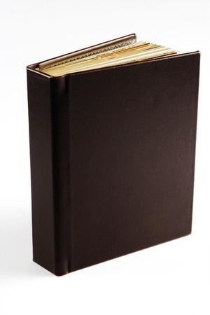 photo album cover: Stylish brown photo album cover