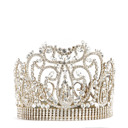 crown or tiara isolated on a white background Banque d'images