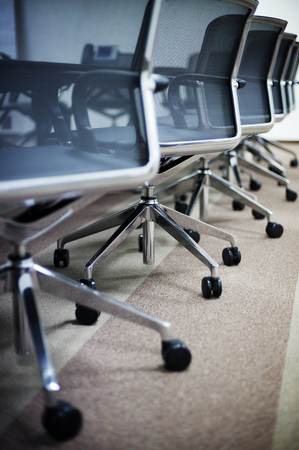 office furniture: Empty business conference room interior.