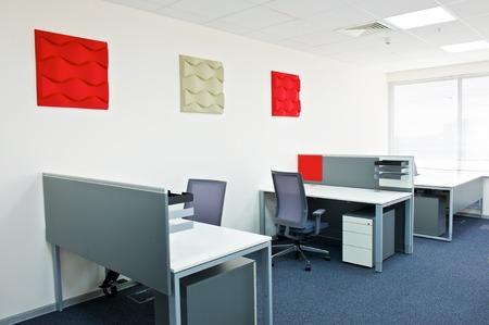 wall decoration: modern office interior. Stock Photo