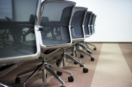 ejecutivo en oficina: Sala de conferencias de negocios Interior vac�o.