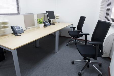 trabajo oficina: interior de la oficina moderna. Foto de archivo