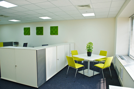 office cabinet: modern office interior. Stock Photo