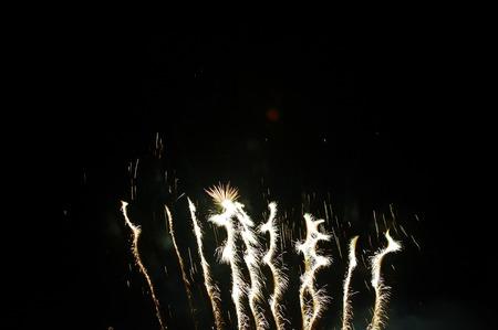 night: Fireworks in the night sky Stock Photo