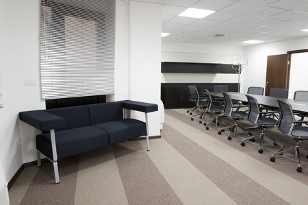 modern office interior: Empty business conference room interior.