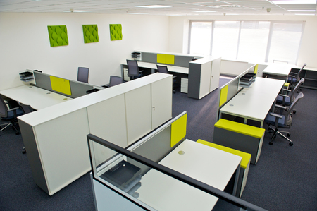 interior room: modern office interior. Stock Photo