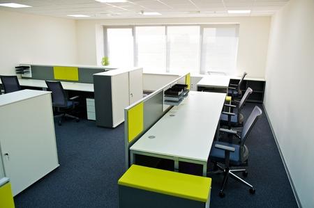 mobiliario de oficina: interior de la oficina moderna. Foto de archivo