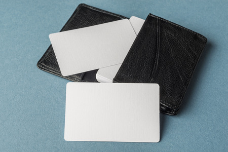 business cards: Business cards blank mockup - template Stock Photo