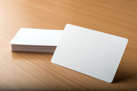 businesscard: Business cards blank mockup - template Stock Photo