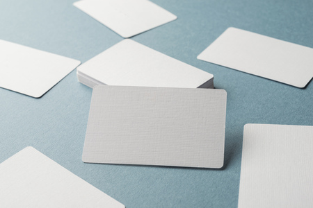 Business cards blank mockup - template Stock Photo