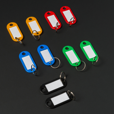 fob: Collection of a key fob on black background