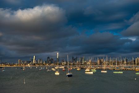 st kilda: Melbourne, Victoria, Australia, viewed from St Kilda