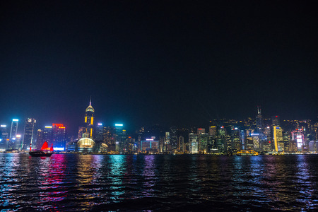 Hong Kong, China - October, 2015 : Cityscape of Hong Kong, China. ong Kong Special Administrative Region of the Peoples Republic of China