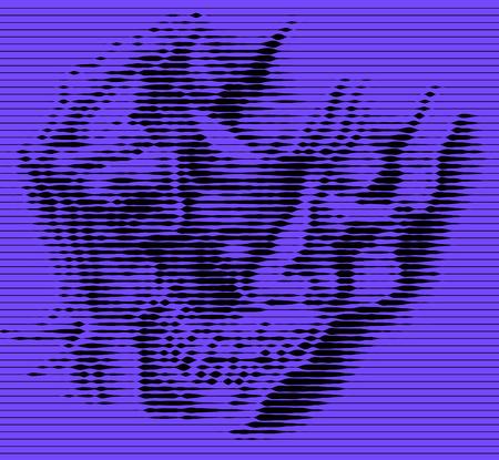 Joker Vector Graphics drawing on blinds Illustration
