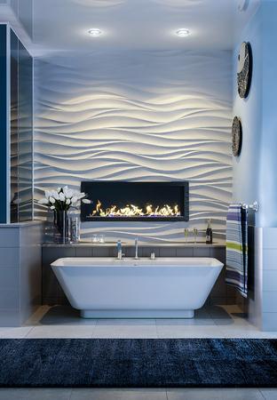 3D Bathroom in modern style