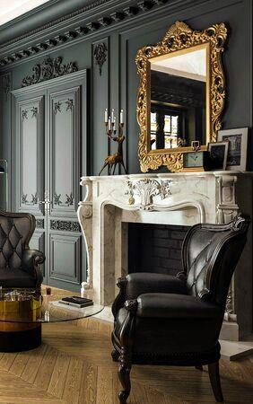 living room Modern classics, neo-classic Stockfoto
