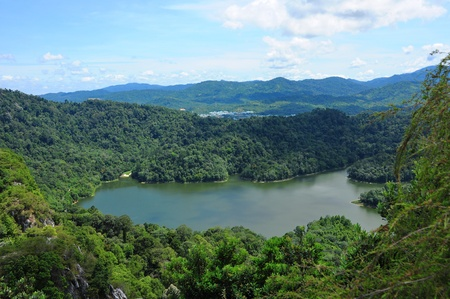 reservoir: Water reservoir in tropical forest of Malaysia