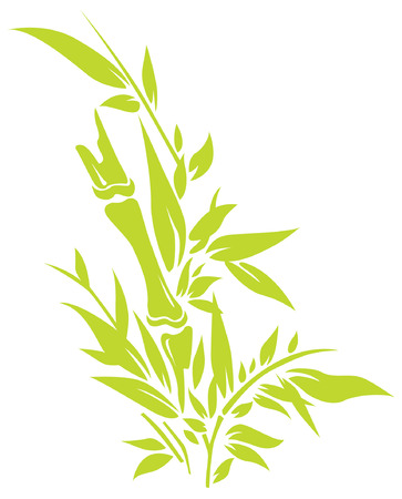 Bamboo tree silhouettes Illustration