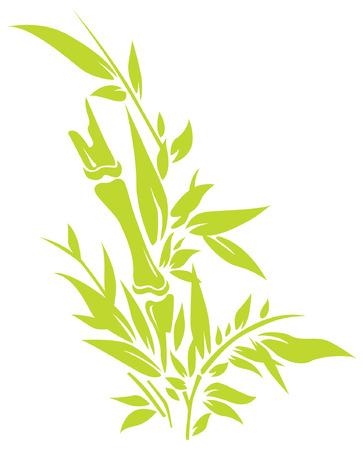 Bamboo tree silhouettes Ilustração