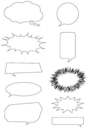 Collection of speech bubble box Stock Vector - 7401808