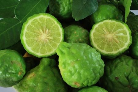 kaffir: Background with pile kaffir limes