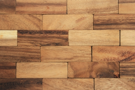 Abstract wood blocks wall background Stock Photo - 7491390