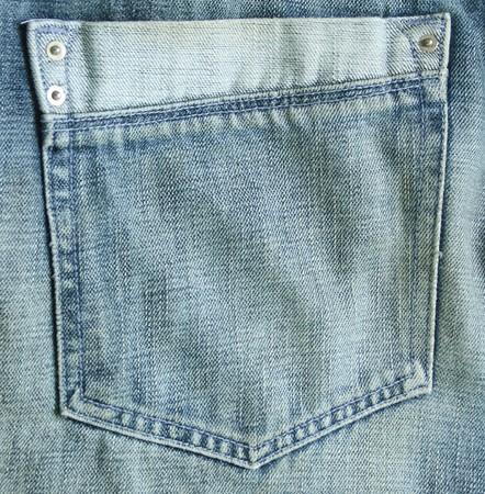 closeup of blue jeans pocket photo