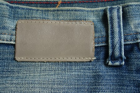 leather label: Blank leather label for your own text