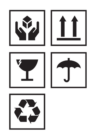 illustration set of package symbols