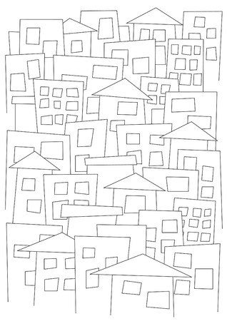 illustrator: pattern with buildings