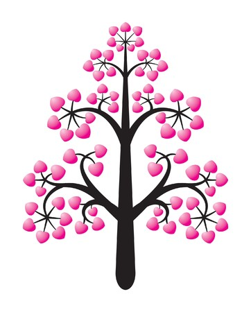 tree love design with background Stock Vector - 7985818