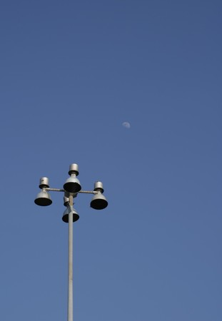 Street lamp isolated on a blue sky Stock Photo - 8064291