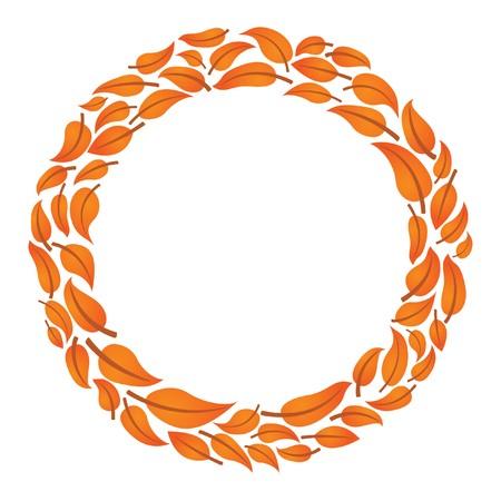 テキストの葉サークル フレーム