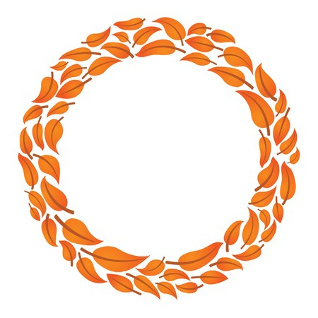 Leaf circle frame for text