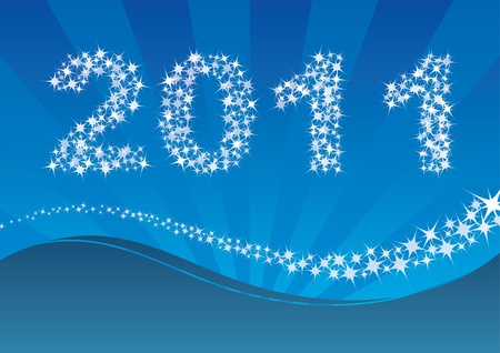 Background with new year 2010 Stock Vector - 8312139