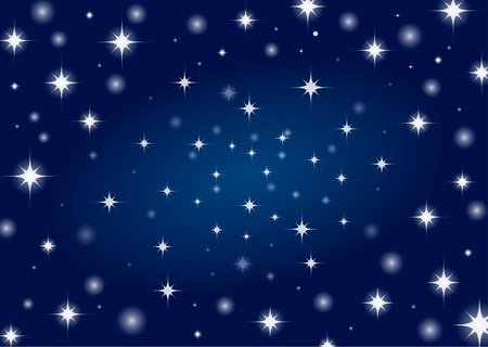 Beautiful night star sky background  Illustration