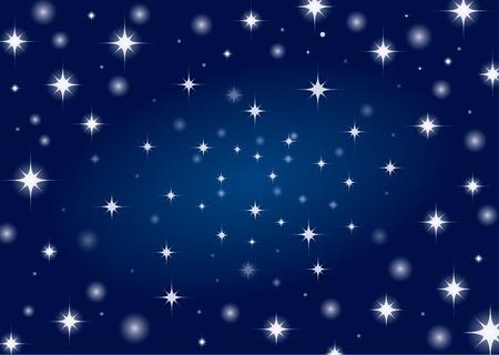 Beautiful night star sky background  Illustration