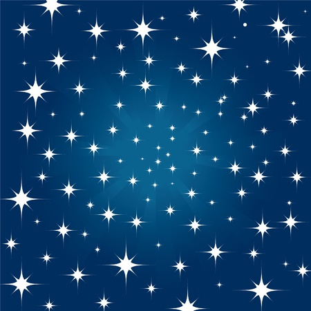 Beautiful night star sky background  Vector