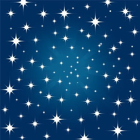 noche estrellada: Fondo de cielo de estrellas de la noche hermosa  Vectores