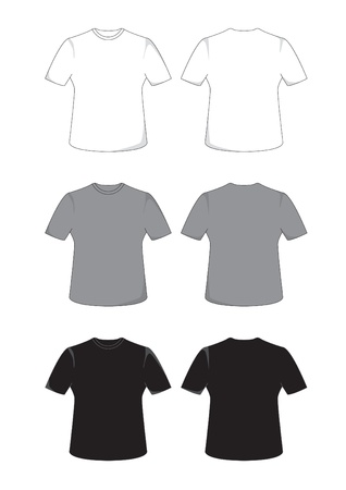 tee shirt: Front and back views of a t-shirt Illustration