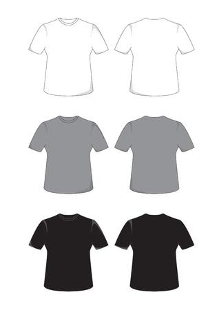 T シャツの前面と背面ビュー