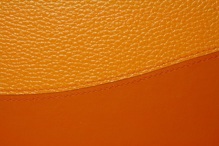 Orange leather texture for background Stock Photo - 8364217