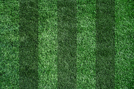 Artificial grass soccer field for background