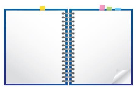 carta da lettere: Bianco Appunti con spirale