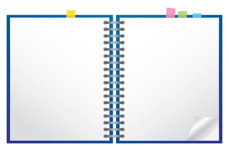 binder: White note pad with spiral