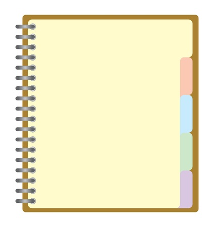 Note pad with spiral Vector