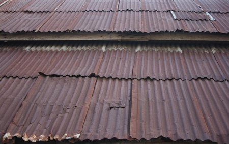Roof rusty corrugated iron metal texture