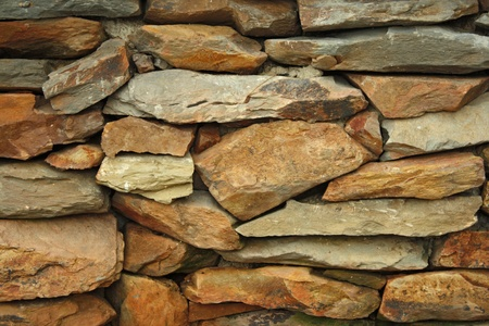 ruined: Background of stone wall texture Stock Photo